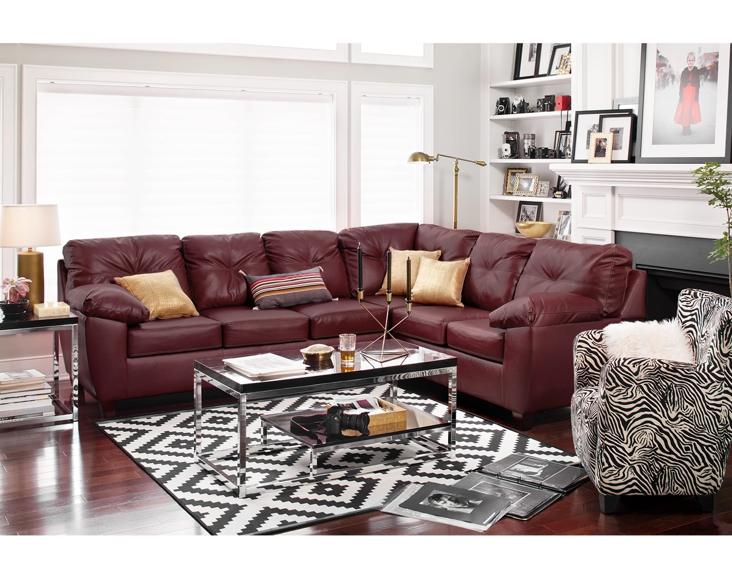 [The Rialto Cardinal Sectional Living Room]