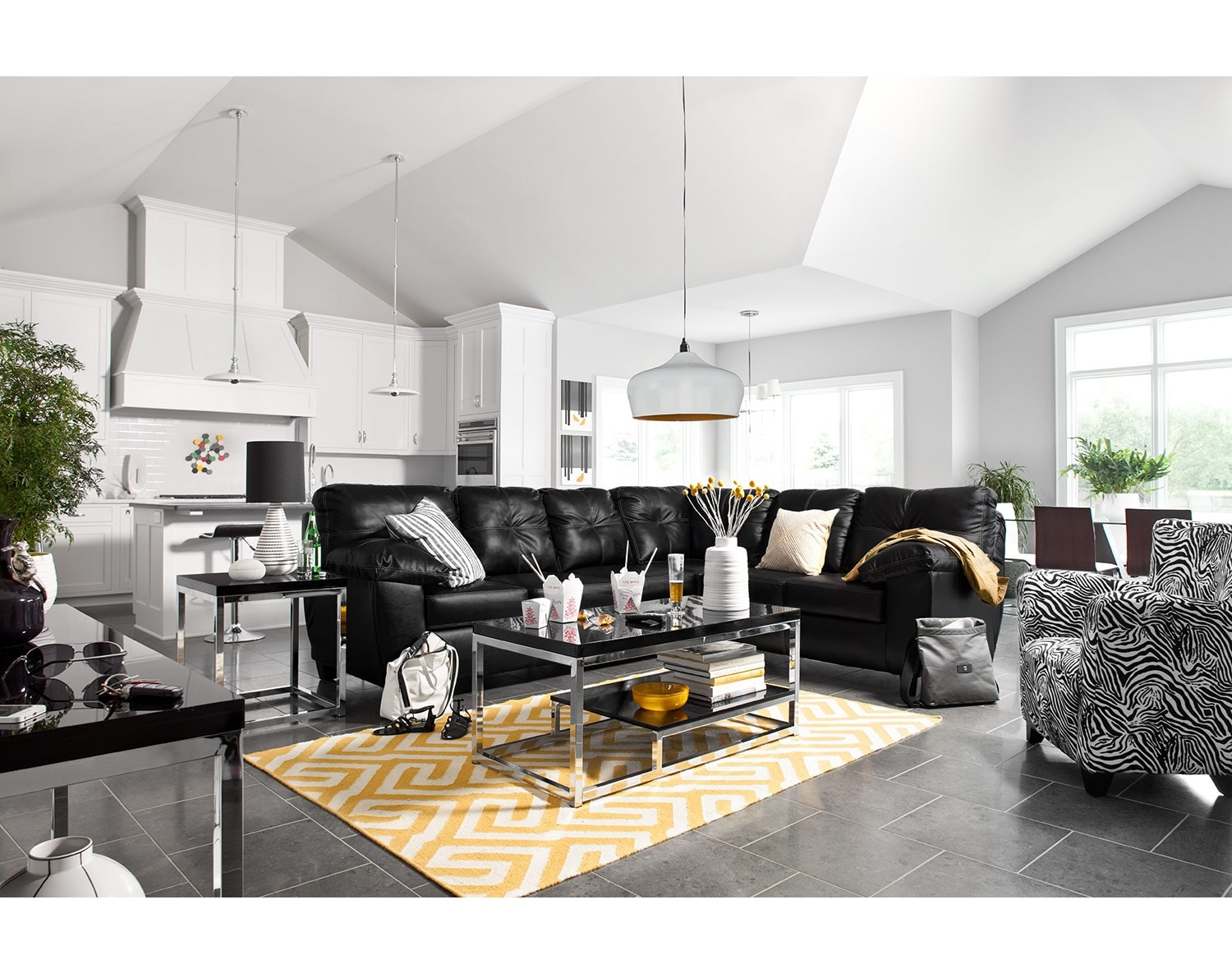 [The Rialto Onyx Sectional Living Room]