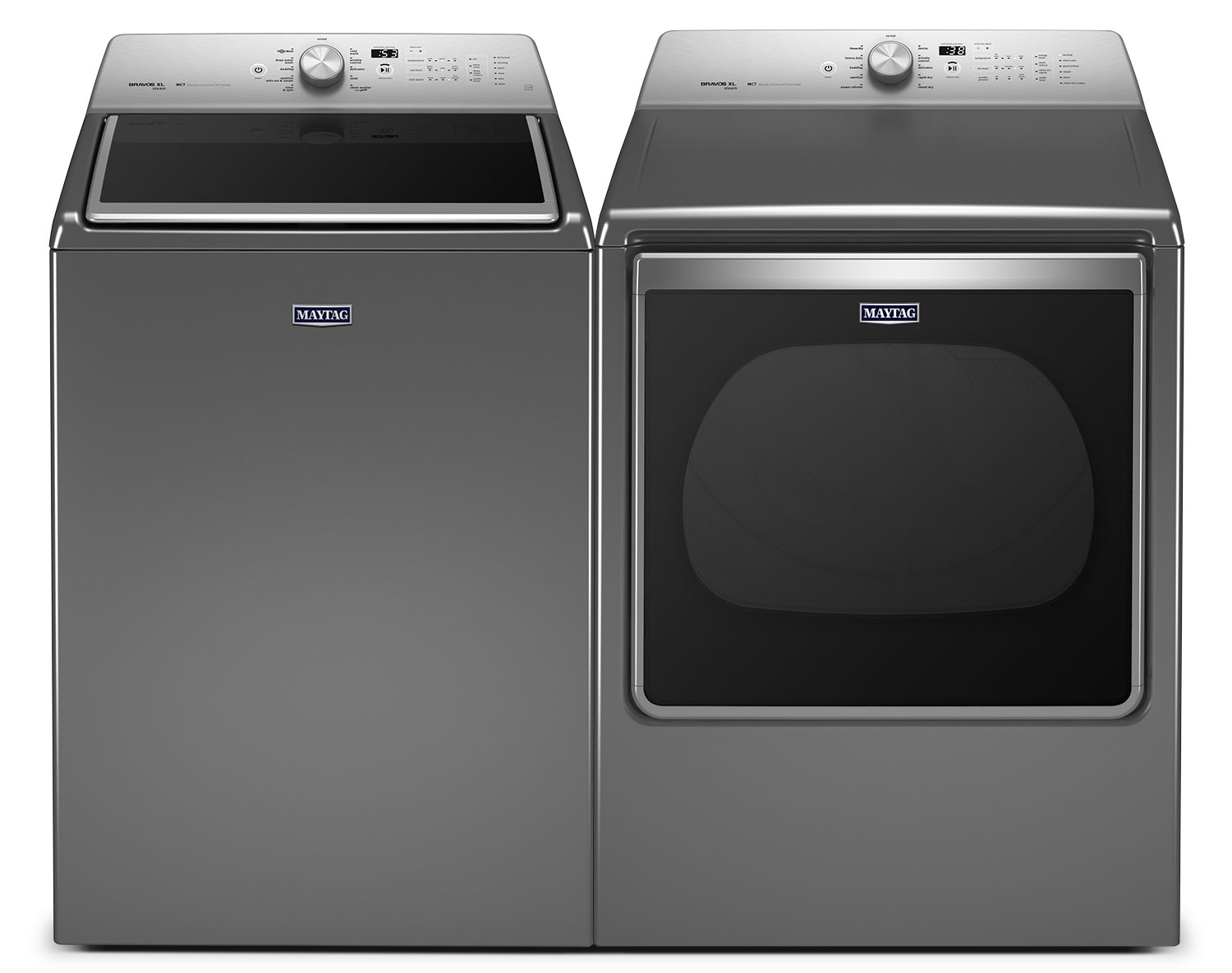 [Maytag Metallic Slate Top-Load Laundry Pair]