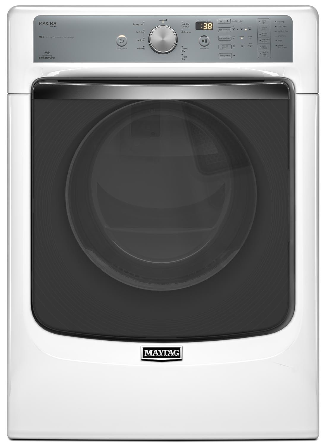 Washers and Dryers - Maytag Maxima® Dryer w/ SoundGuard® Dryer Drum (7.3 Cu. Ft.) YMED8100DW