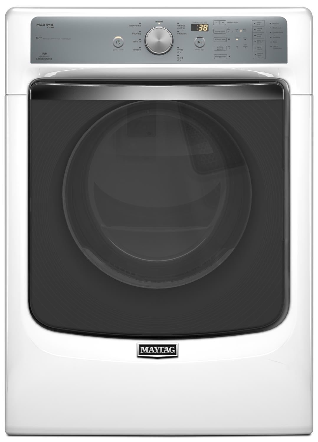 Washers and Dryers - Maytag Maxima® Gas Dryer w/ SoundGuard® Dryer Drum (7.3 Cu. Ft.) MGD8100DW