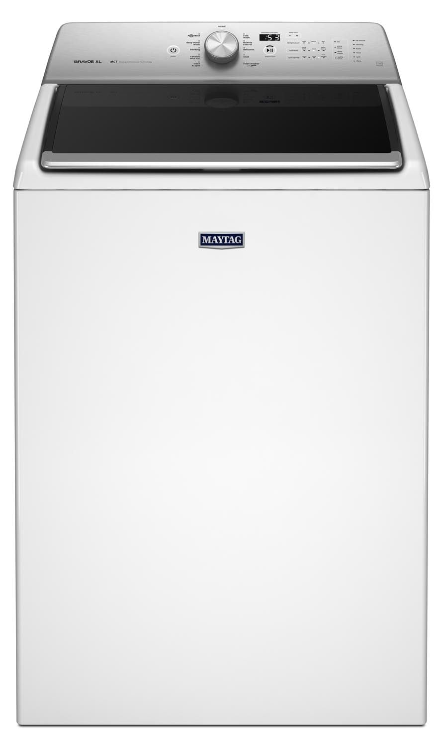 Washers and Dryers - Maytag White Top-Load Washer (6.1 Cu. Ft.) - MVWB835DW