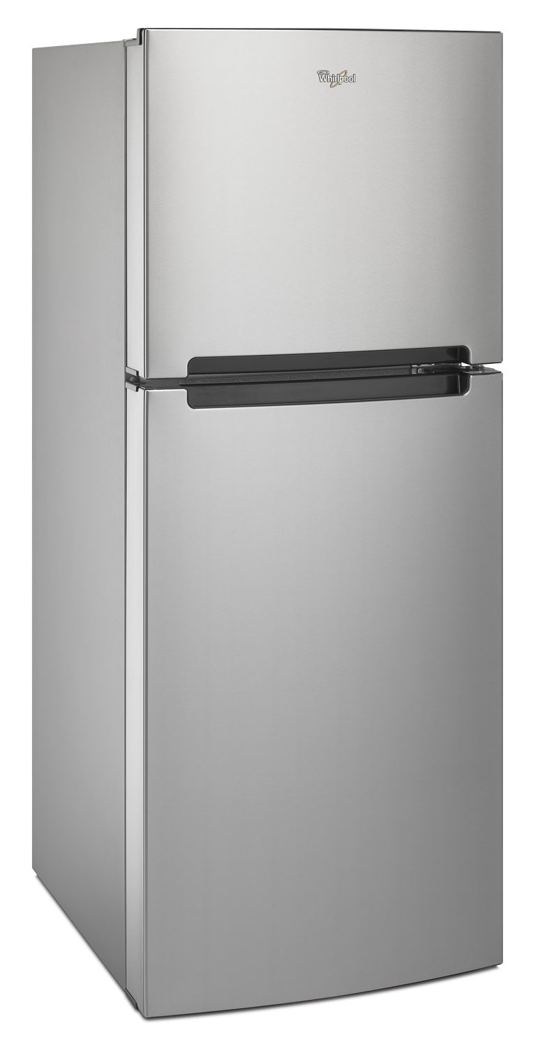 whirlpool stainless steel top freezer refrigerator 10 7. Black Bedroom Furniture Sets. Home Design Ideas
