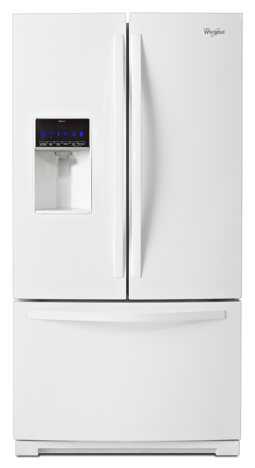 Refrigerators and Freezers - Whirlpool White French Door Refrigerator (24.7 Cu. Ft.) - WRF736SDAW