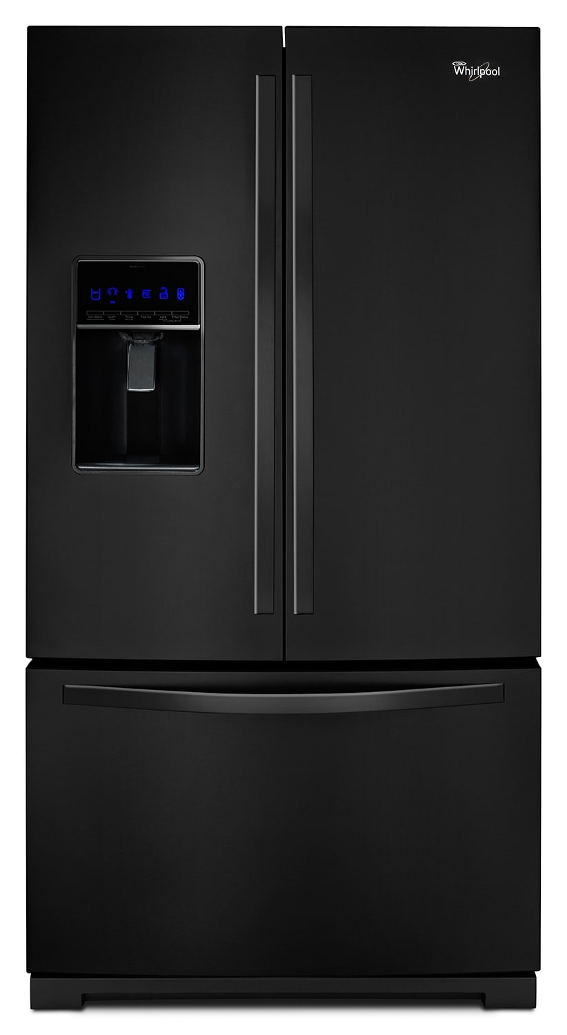 Refrigerators and Freezers - Whirlpool Black French Door Refrigerator (24.7 Cu. Ft.) - WRF736SDAB