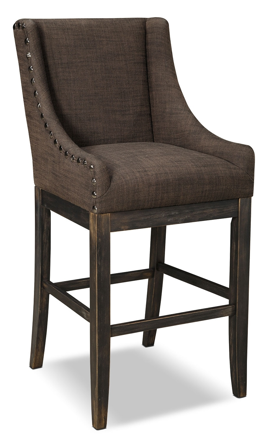 Moriann Wingback Barstool - Dark Brown