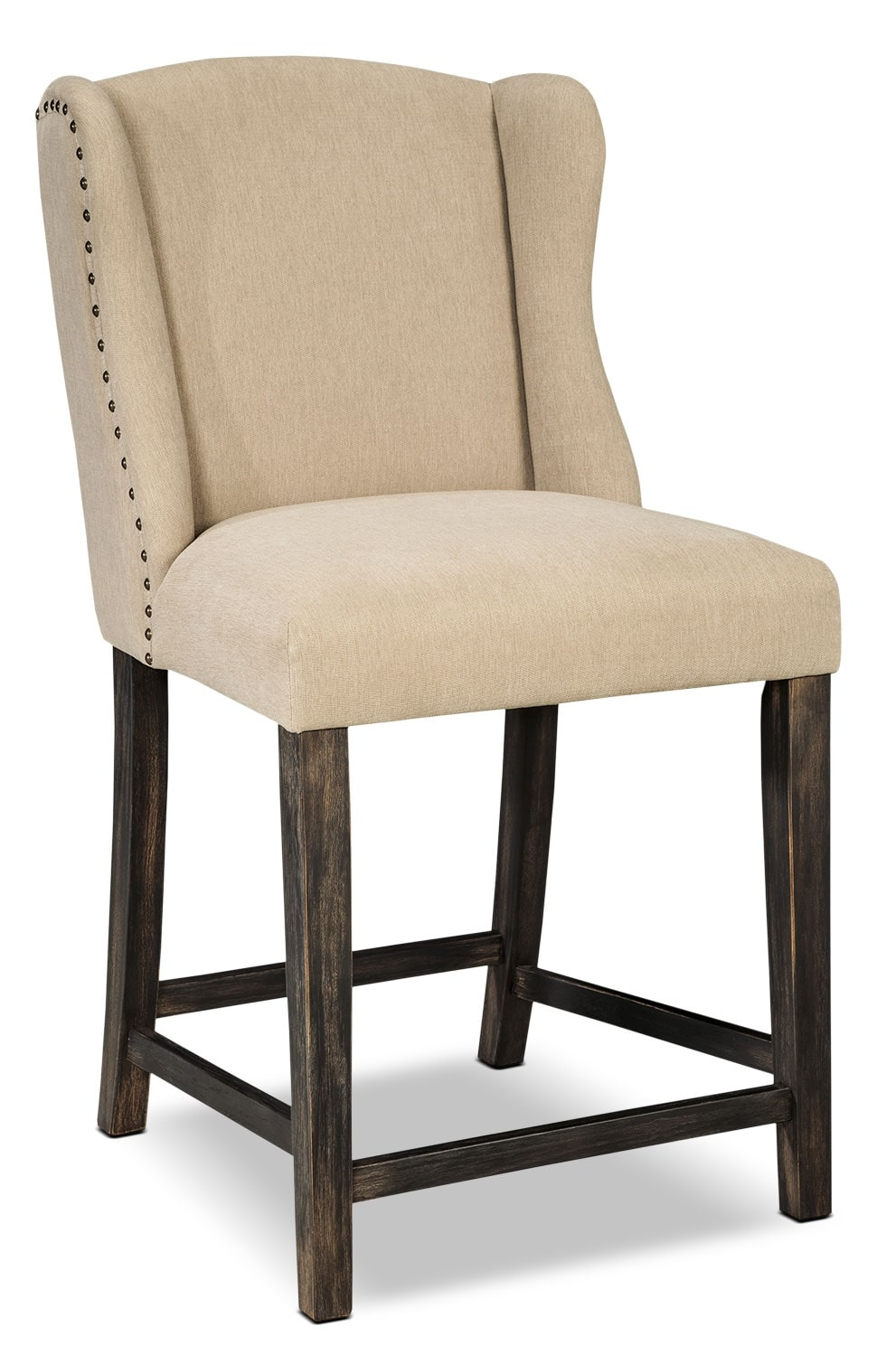 Moriann Wingback Counter Height Stool Ivory The Brick