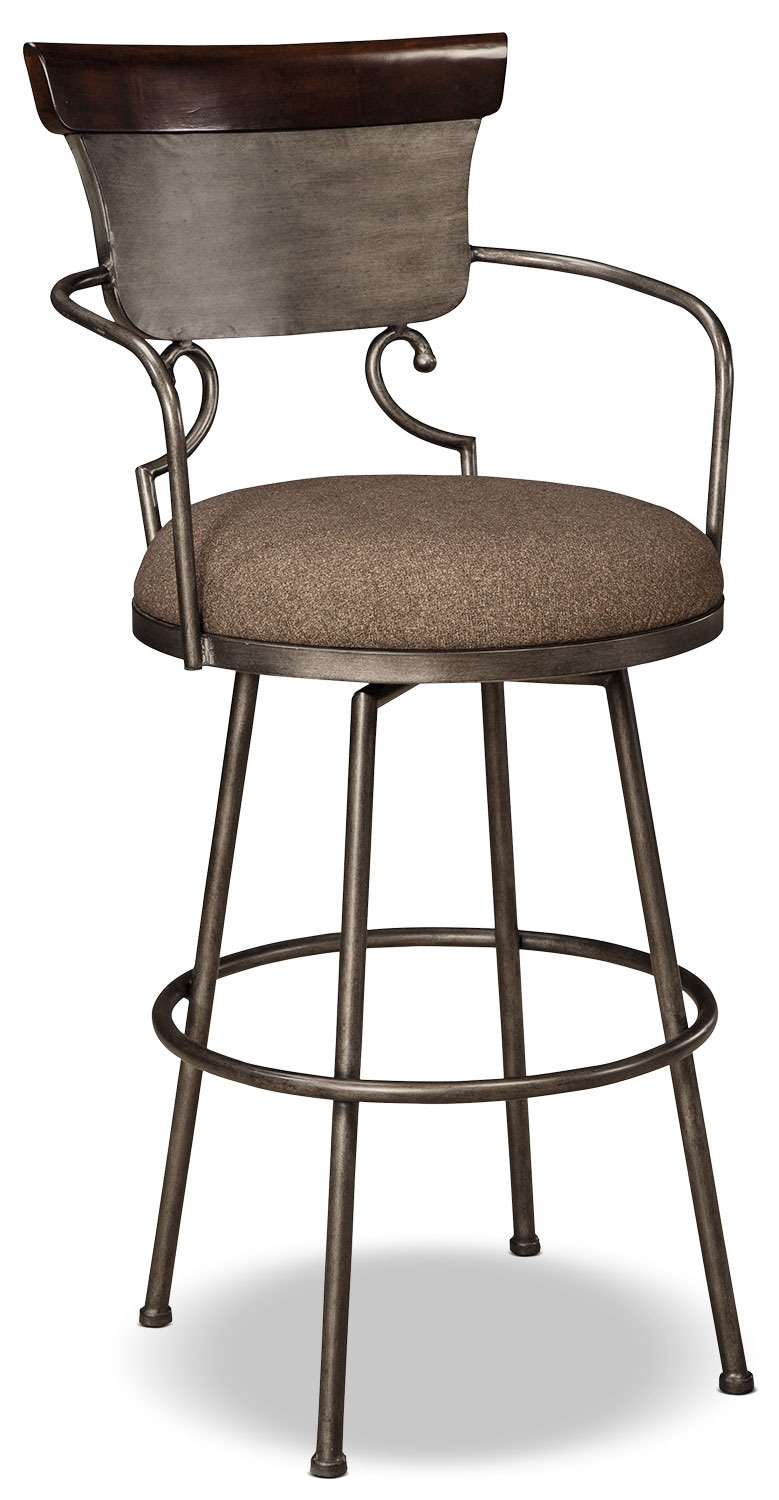 Dining Room Furniture - Moriann Metal Barstool - Dark Brown