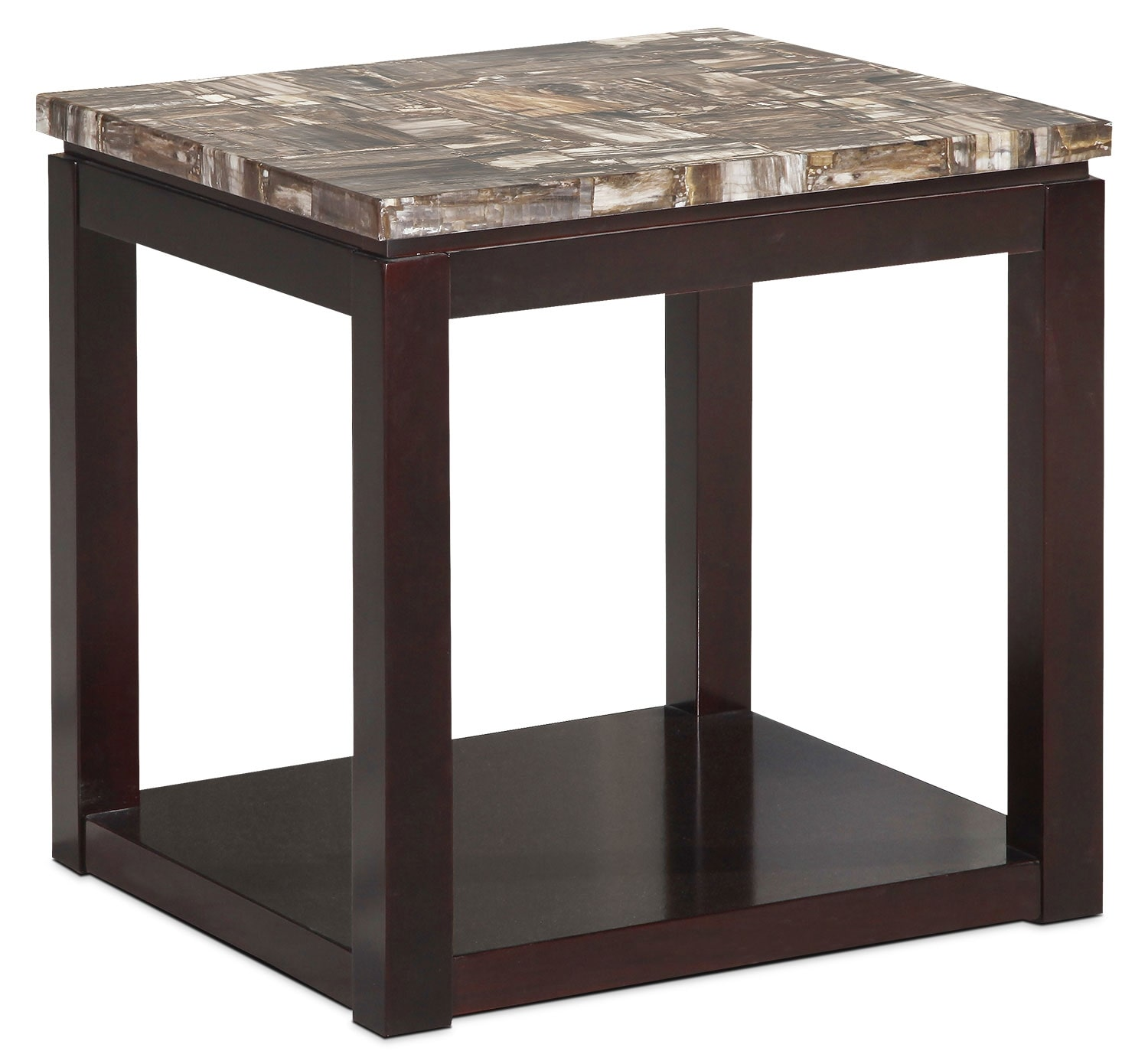 Accent and Occasional Furniture - Sicily End Table – Brown