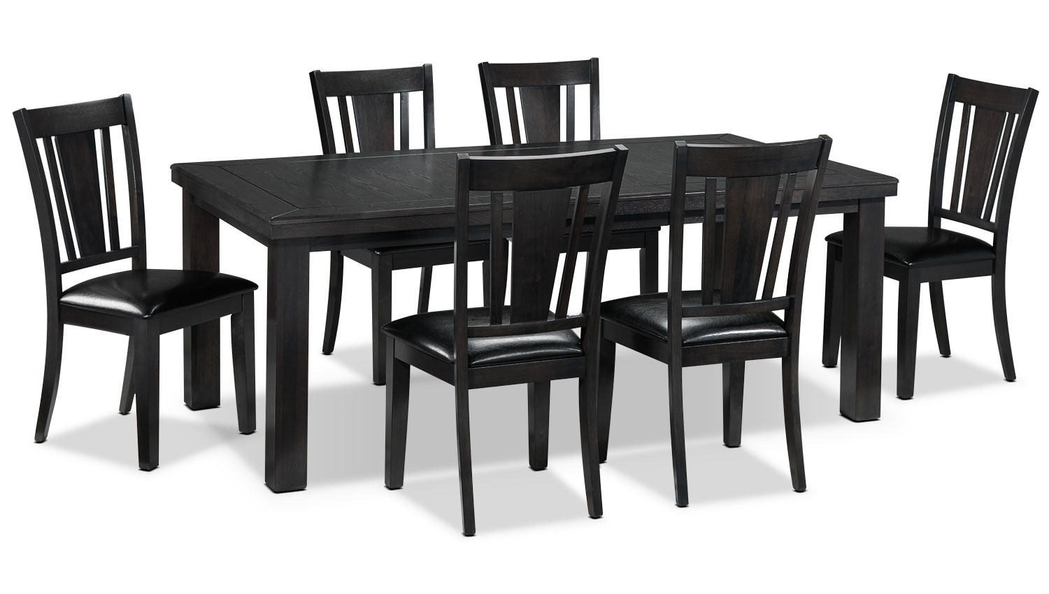 Marlowe 7-Piece Dinette Set - Charcoal