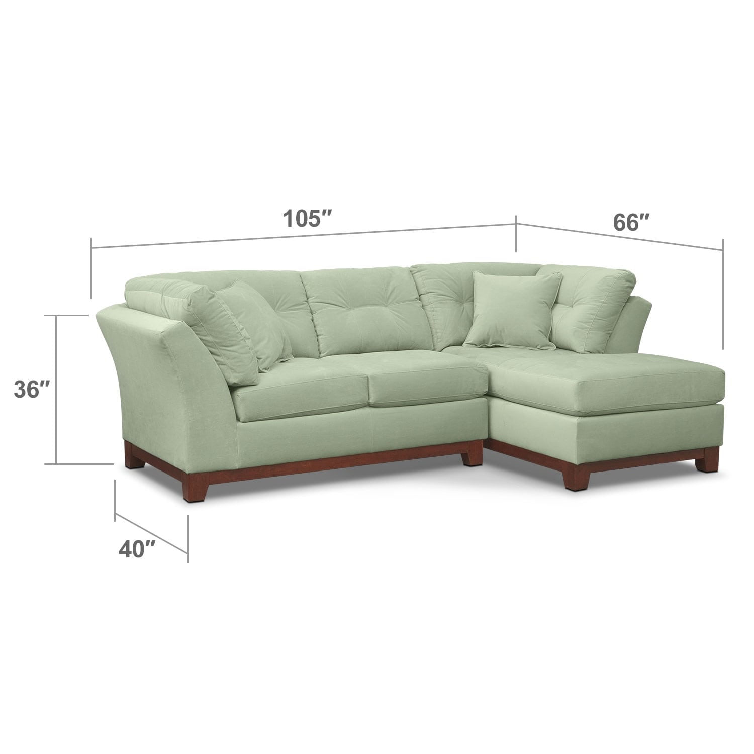 Living Room Furniture - Brookside II Spa 2 Pc. Sectional (Alternate Reverse)