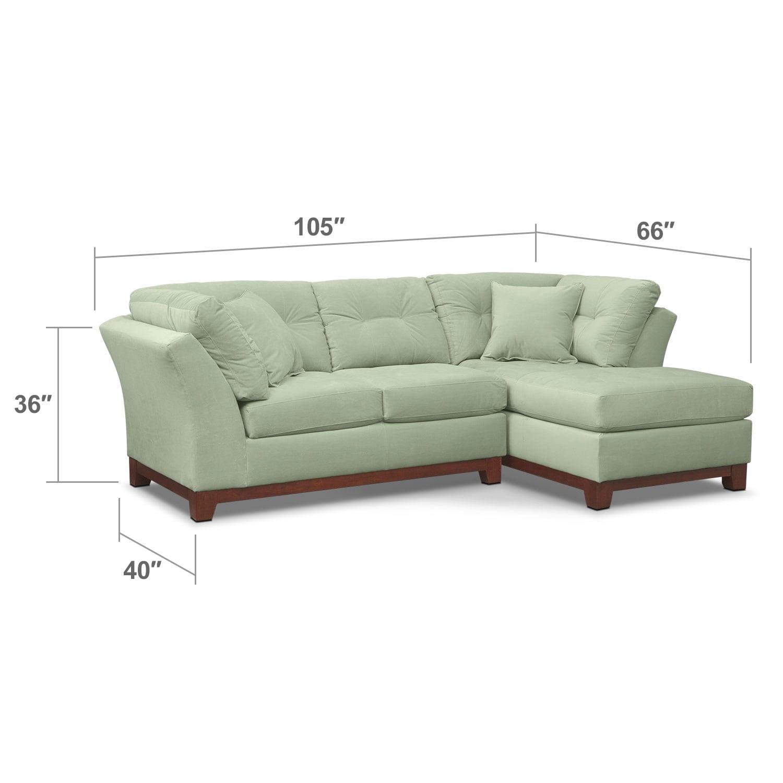 Living Room Furniture - Brookside II Spa 2 Pc. Sectional (Alternate Reverse)
