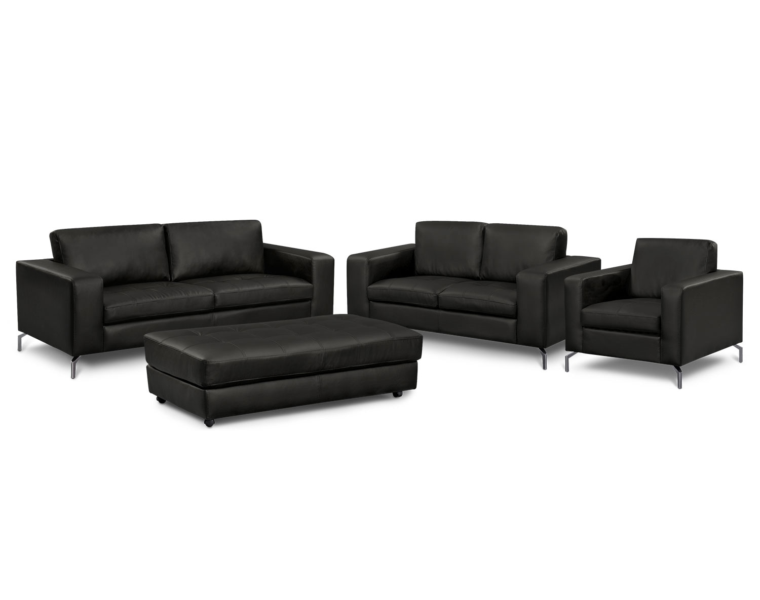 Living Room Furniture - The Mirage Black Collection - Sofa