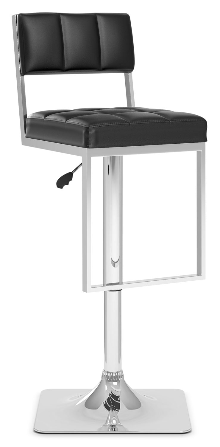 CorLiving Square Tufted Adjustable Bar Stool