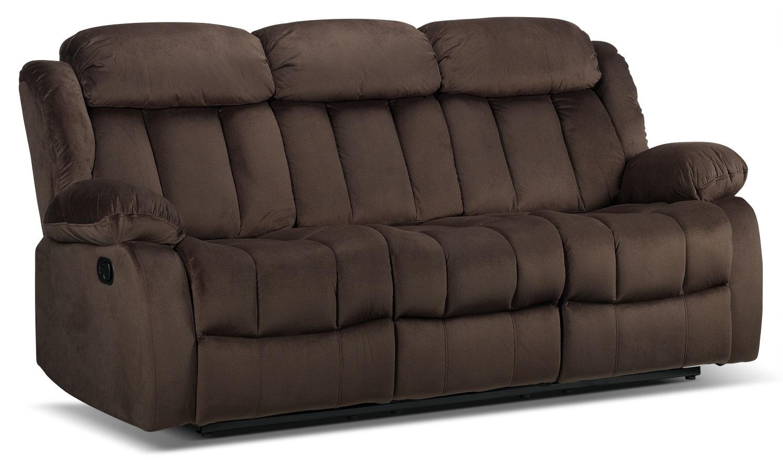 alabama reclining sofa deep brown leon 39 s. Black Bedroom Furniture Sets. Home Design Ideas