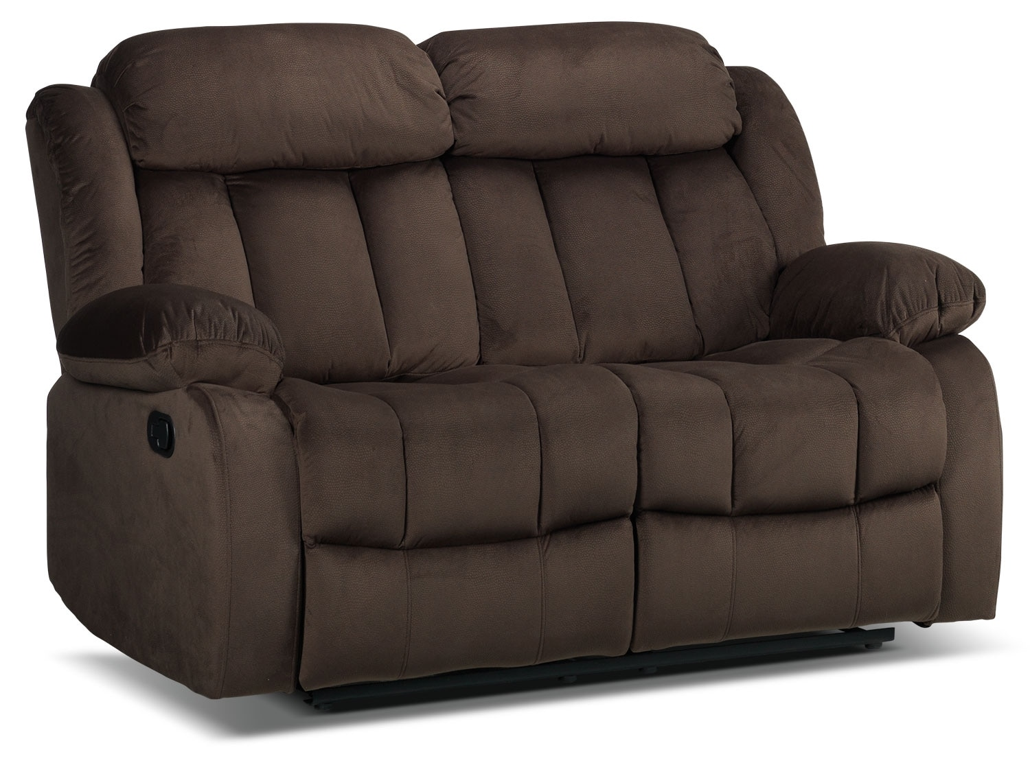 Living Room Furniture - Alabama Reclining Loveseat - Deep Brown