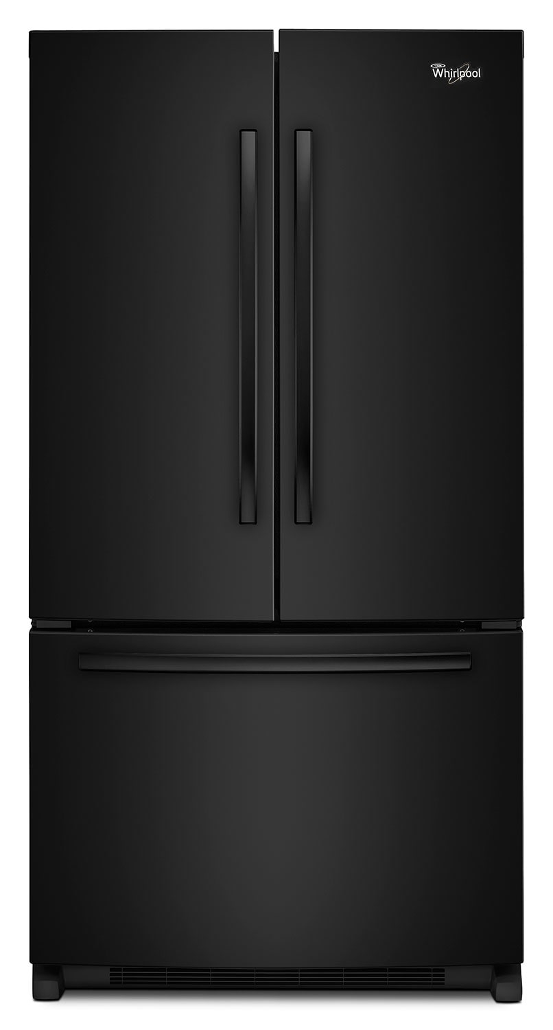 Refrigerators and Freezers - Whirlpool Black French Door Refrigerator (25.2 Cu. Ft.) - WRF535SMBB