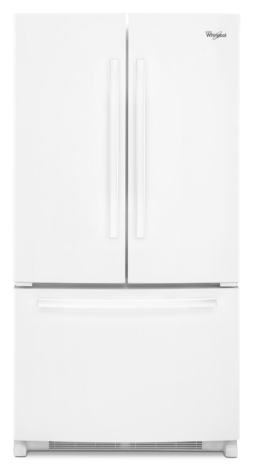 Refrigerators and Freezers - Whirlpool White French Door Refrigerator (25.2 Cu. Ft.) - WRF535SWBW