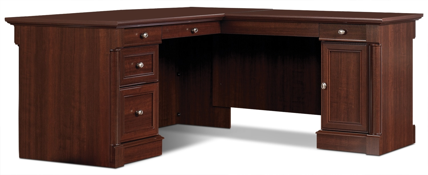 Palladia L-Shaped Desk – Select Cherry
