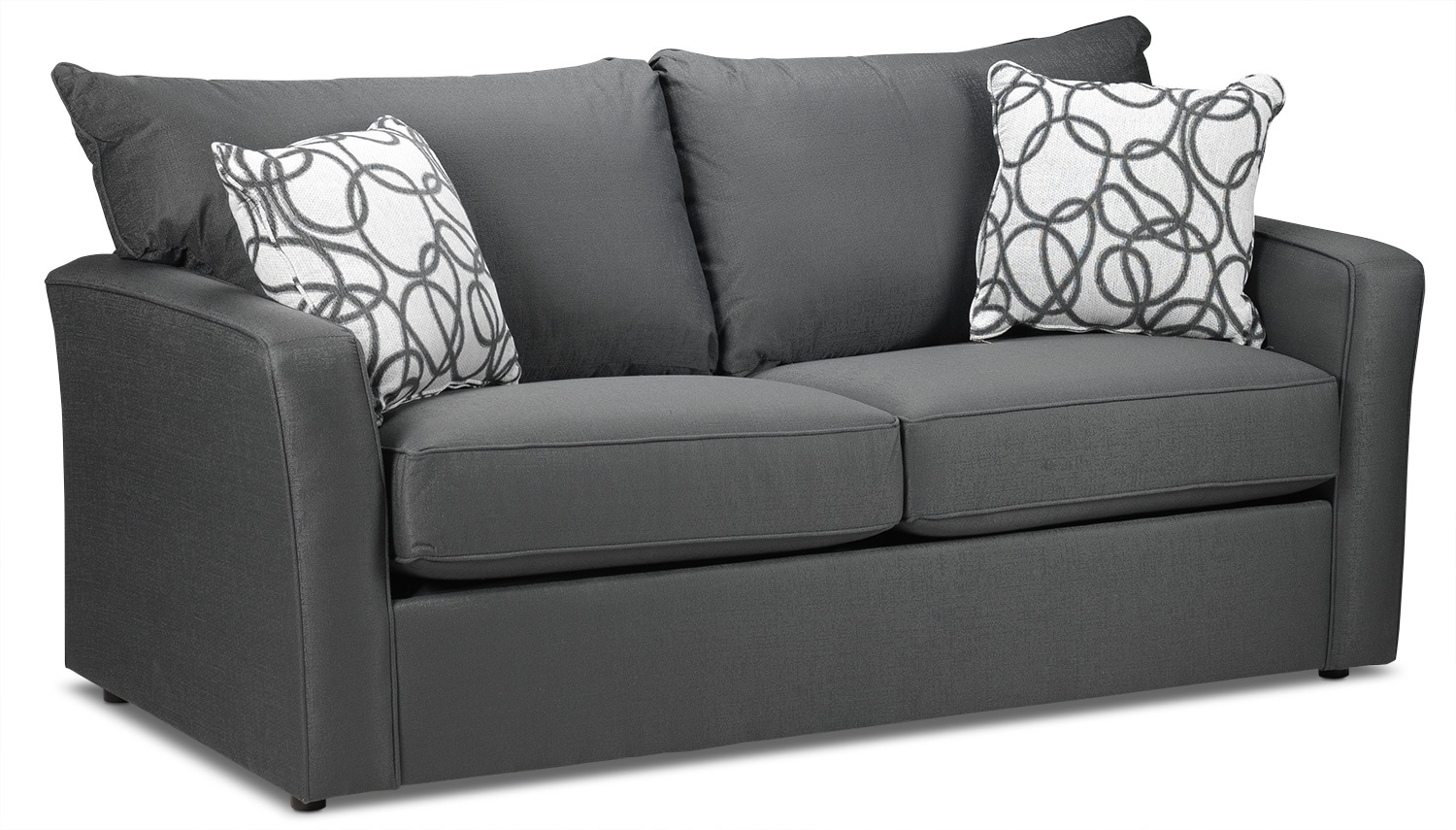 Sonah full innerspring sofabed grey leon39s for Sofa bed measurements