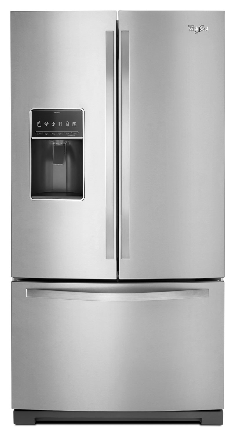 Refrigerators and Freezers - Whirlpool Stainless Steel French Door Refrigerator (26.8 Cu. Ft.) - WRF757SDEM
