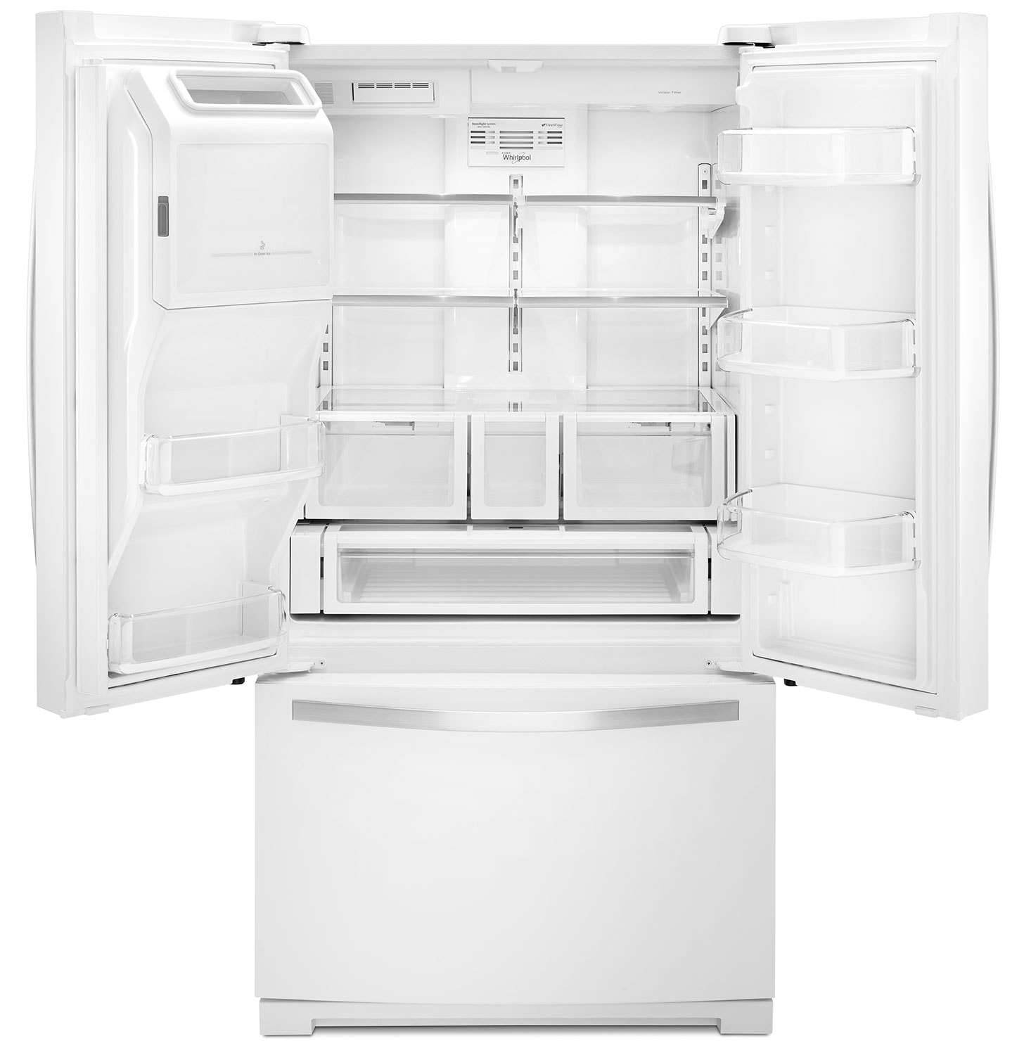 Whirlpool White French Door Refrigerator (26.8 Cu. Ft.)   WRF757SDEH
