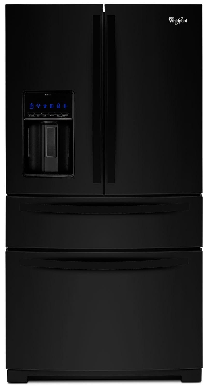 Refrigerators and Freezers - Whirlpool Black French Door Refrigerator (26.2 Cu. Ft.) - WRX988SIBB
