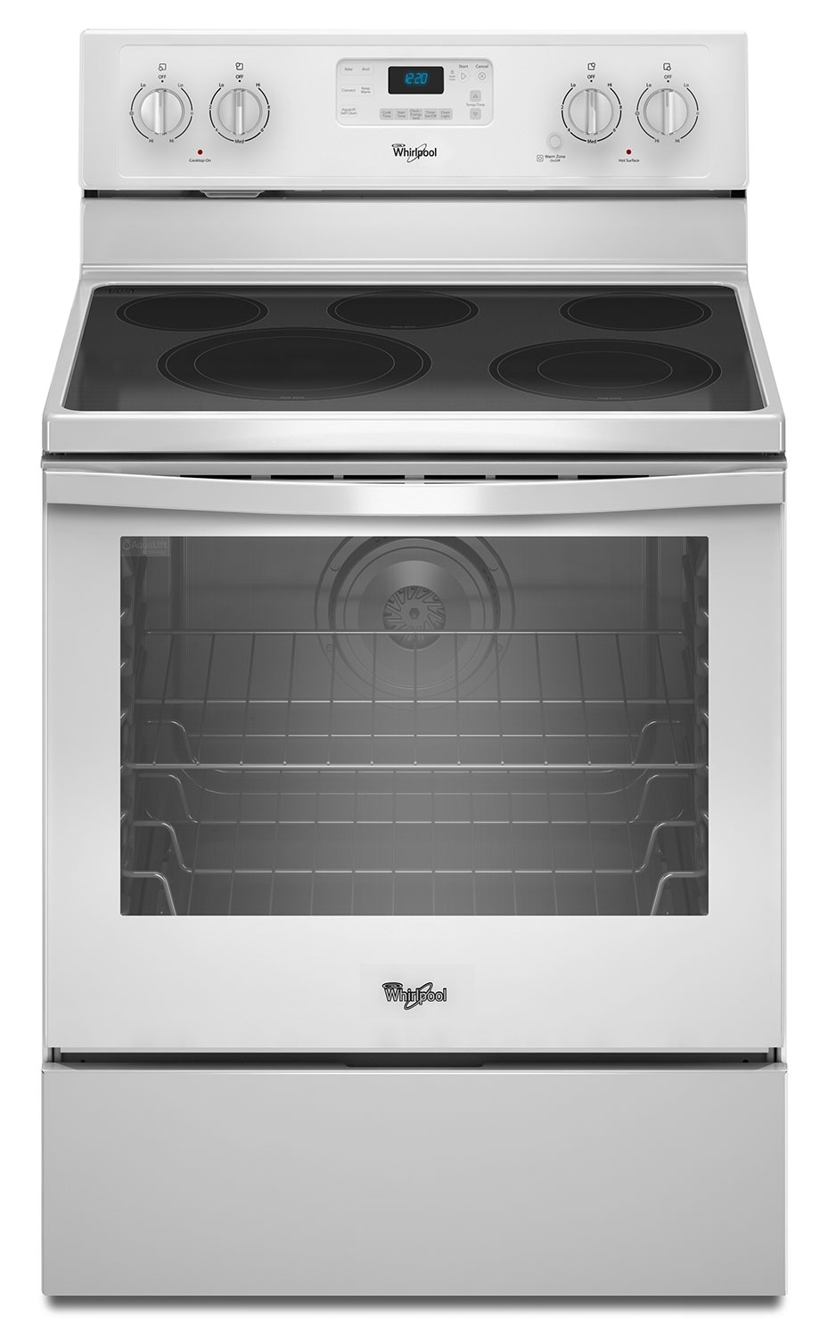 [Whirlpool Stainless Steel Freestanding Electric Convection Range (6.4 Cu. Ft.) - YWFE540H0EW]