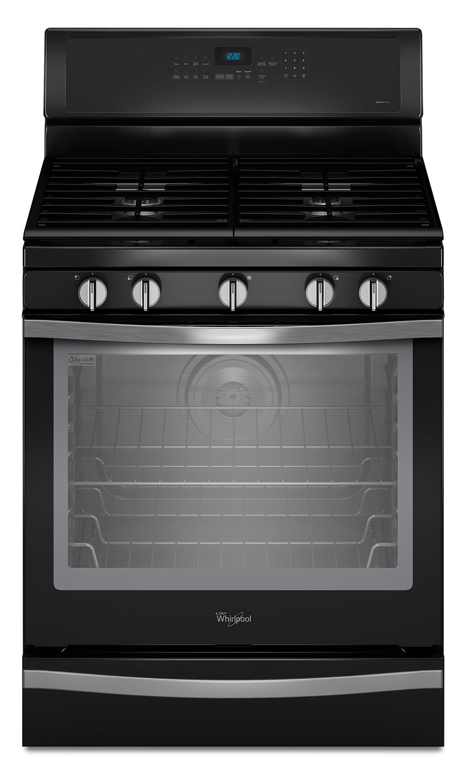 Cooking Products - Whirlpool Black Freestanding Gas Convection Range (5.8 Cu. Ft.) - WFG715H0EE