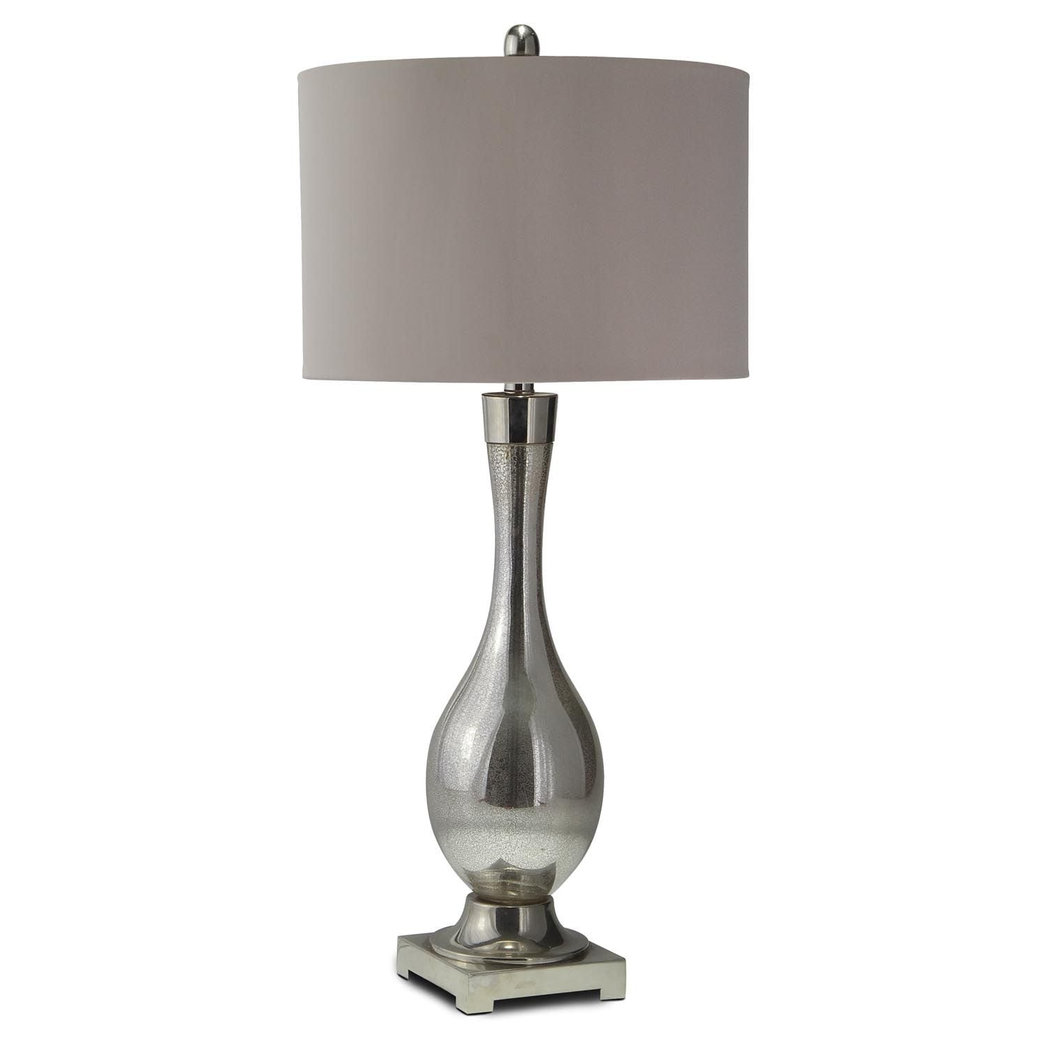 mercury glass table lamp value city furniture. Black Bedroom Furniture Sets. Home Design Ideas