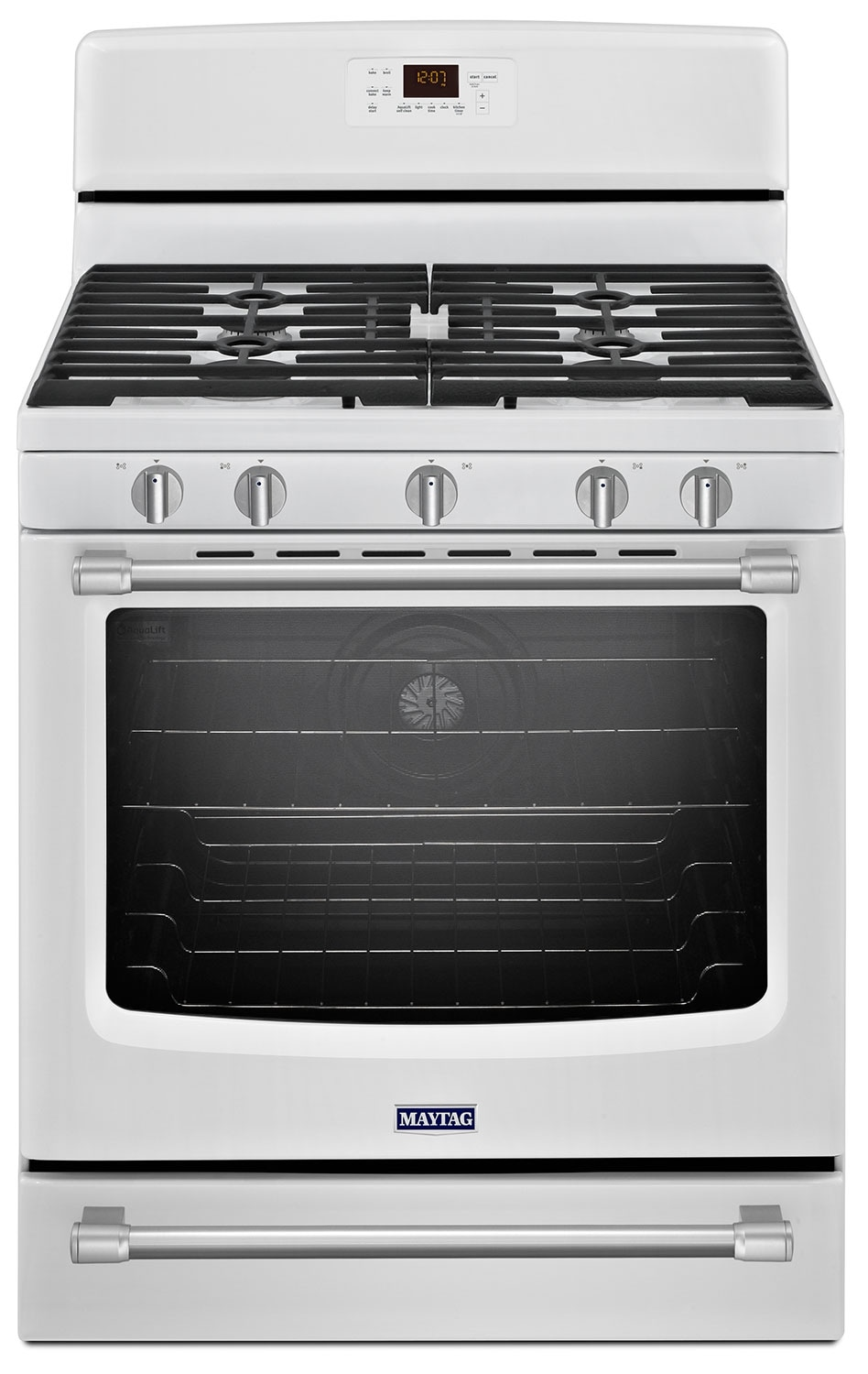 Cooking Products - Maytag White Freestanding Gas Convection Range (5.8 Cu. Ft.) - MGR8700DH