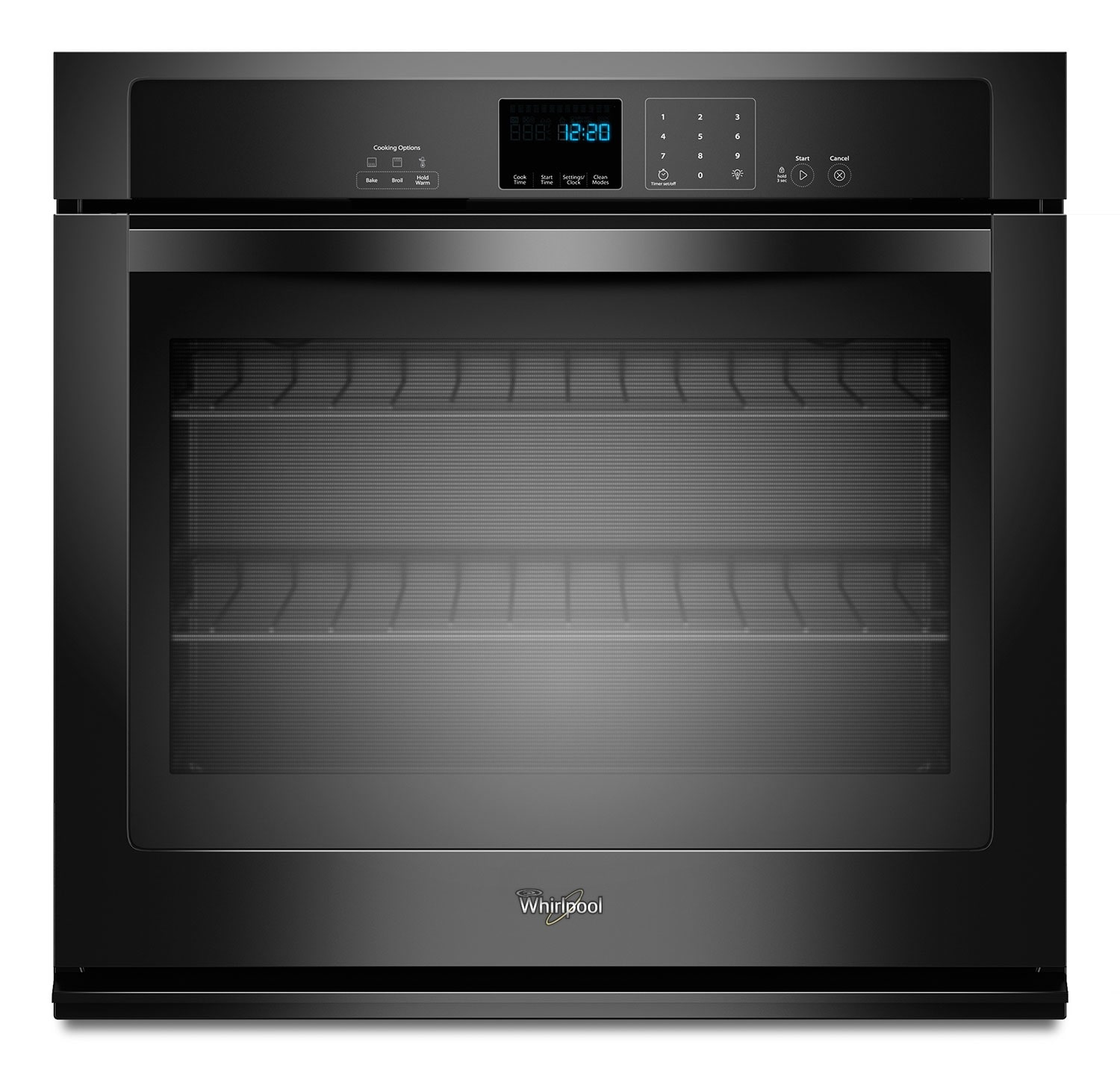 Cooking Products - Whirlpool Black Wall Oven (4.3 Cu. Ft.) - WOS51EC7AB