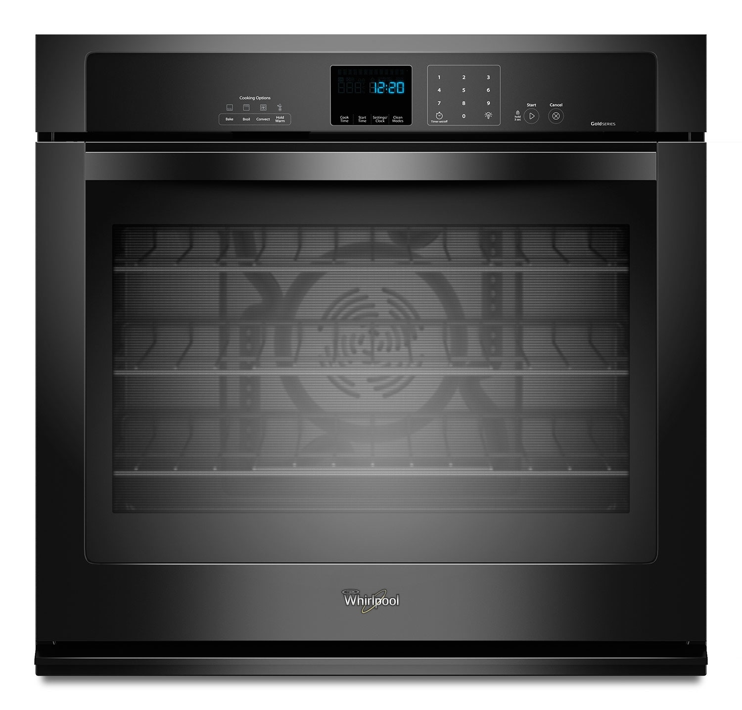 Cooking Products - Whirlpool Black Wall Oven (4.3 Cu. Ft.) - WOS92EC7AB