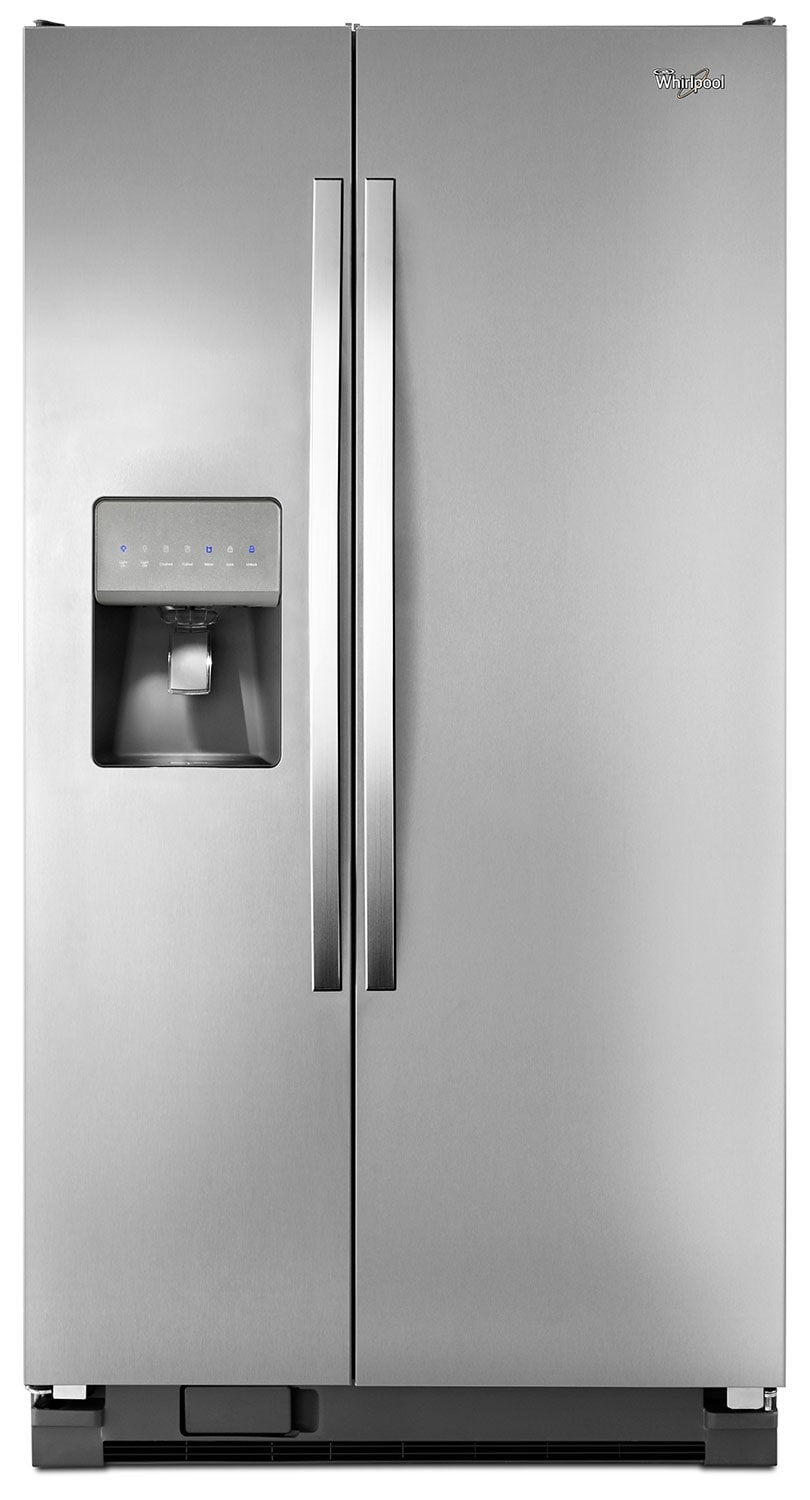Refrigerators and Freezers - Whirlpool Stainless Steel Side-by-Side Refrigerator (21.2 Cu. Ft.) - WRS331FDDM