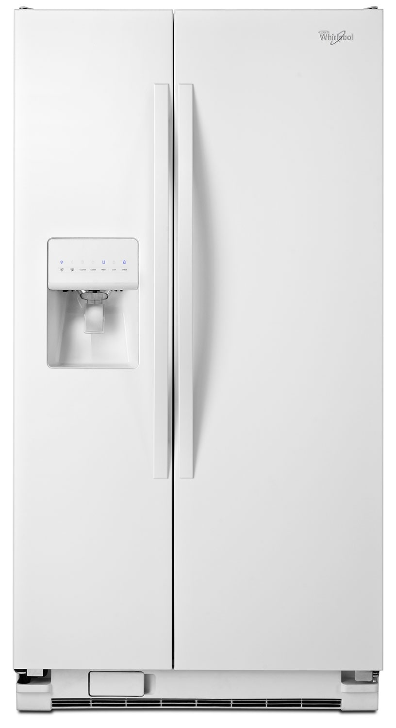 Refrigerators and Freezers - Whirlpool White Side-by-Side Refrigerator (24.4 Cu. Ft.) - WRS325FDAW