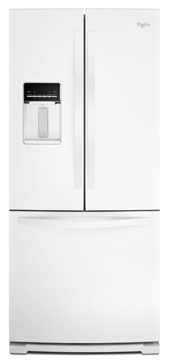 Refrigerators and Freezers - Whirlpool White French Door Refrigerator (19.7 Cu. Ft.) - WRF560SEYW