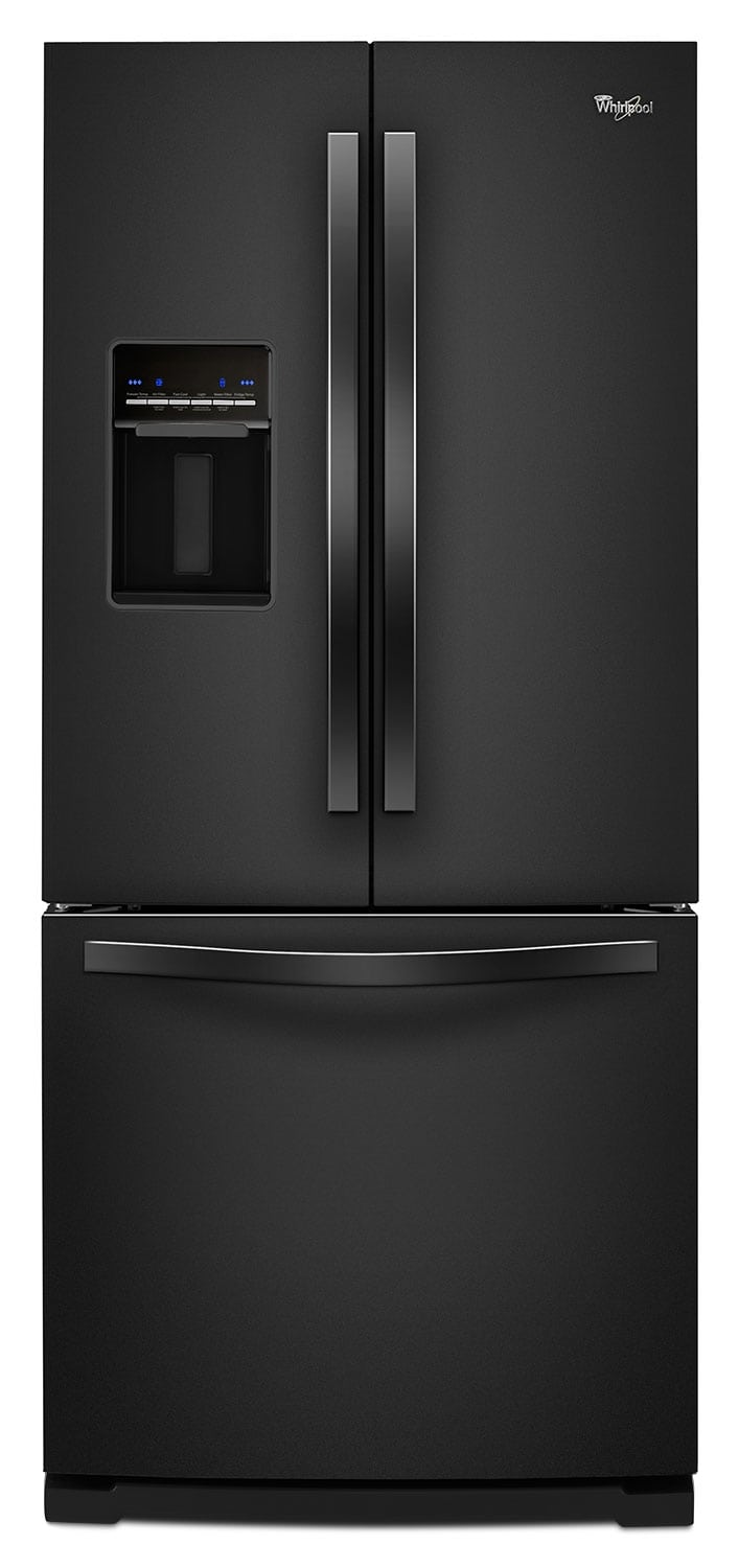 Whirlpool Black French Door Refrigerator (19.7 Cu. Ft.) - WRF560SEYB