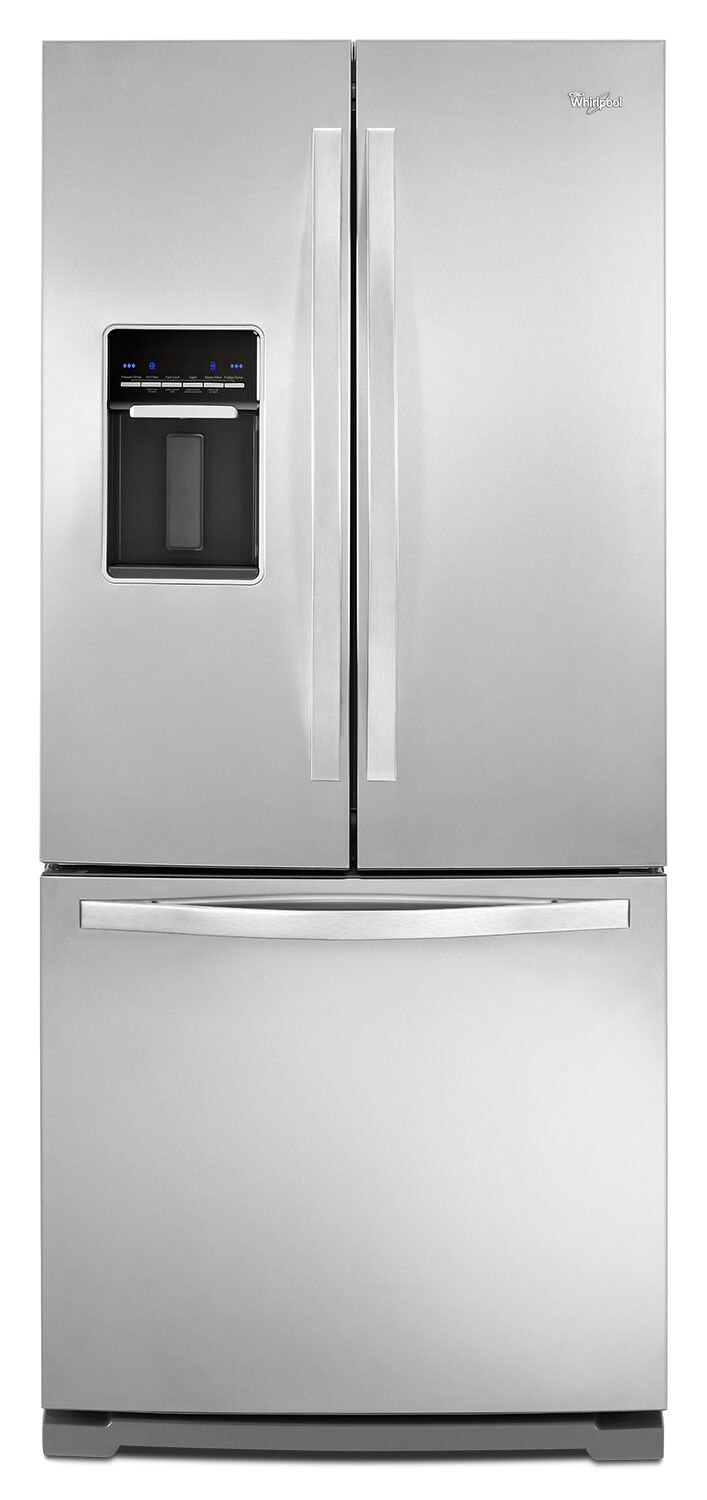 Refrigerators and Freezers - Whirlpool Stainless Steel French Door Refrigerator (19.7 Cu. Ft.) - WRF560SEYM