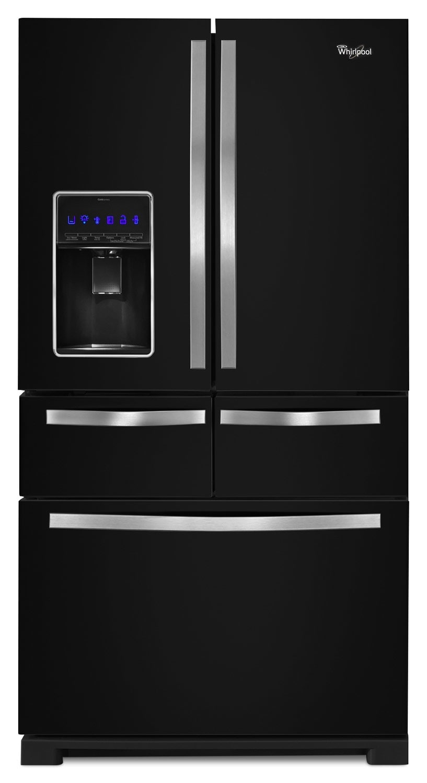 Refrigerators and Freezers - Whirlpool Black French Door Refrigerator (25.8 Cu. Ft.) - WRV996FDEE