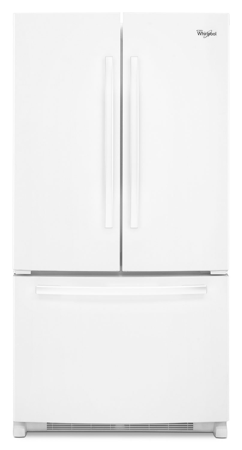 Refrigerators and Freezers - Whirlpool White French Door Refrigerator (25.2 Cu. Ft.) - WRF535SMBW