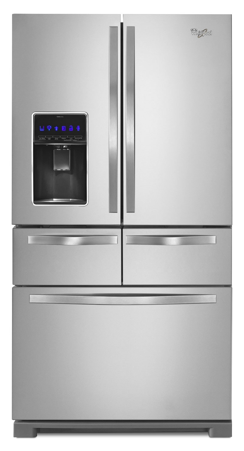 Refrigerators and Freezers - Whirlpool Stainless Steel French Door Refrigerator (25.8 Cu. Ft.) - WRV996FDEM