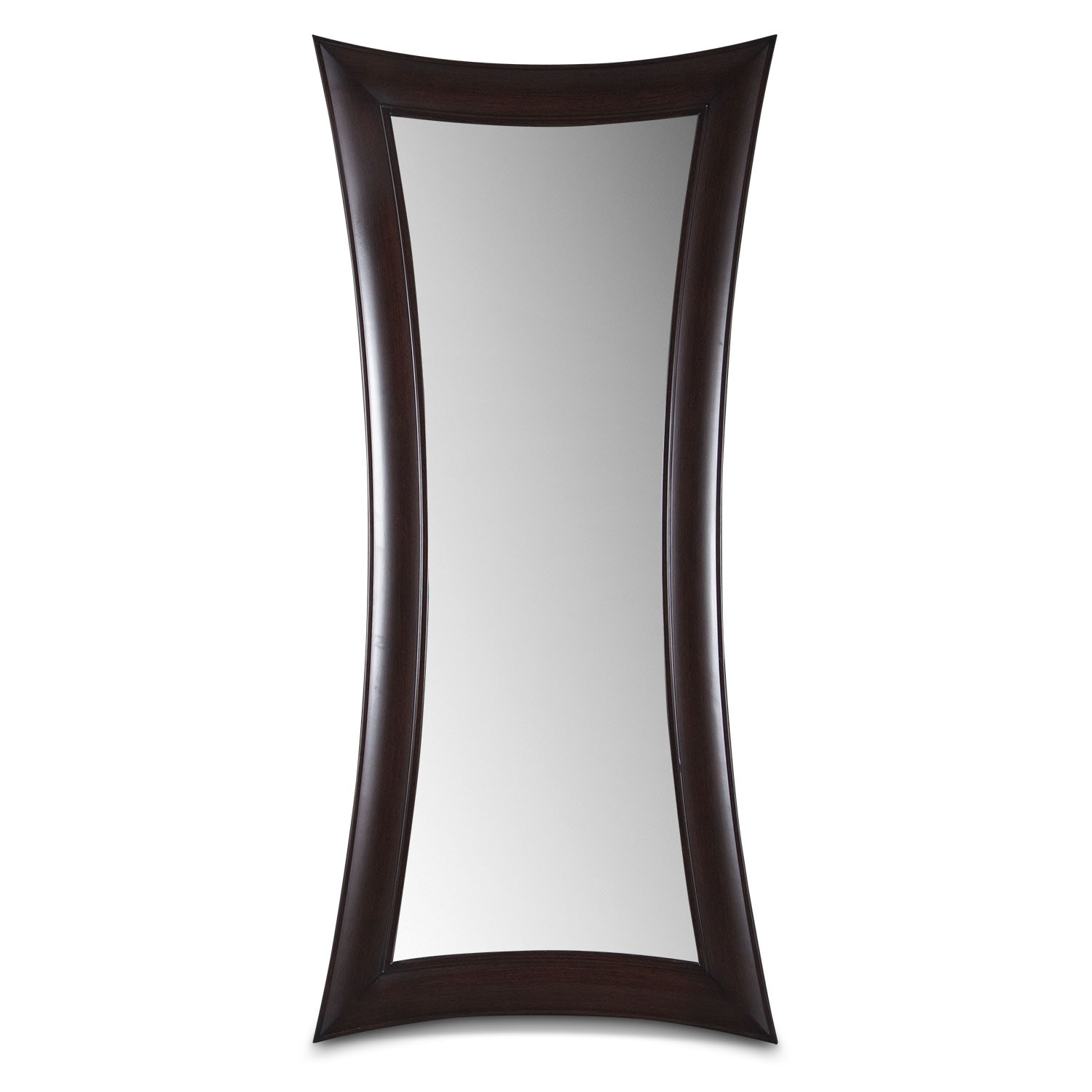 Abigail wenge floor mirror american signature furniture for Miroir wenge