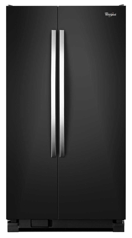 Whirlpool Black Side-by-Side Refrigerator (21.5 Cu. Ft.) - WRS322FNAE