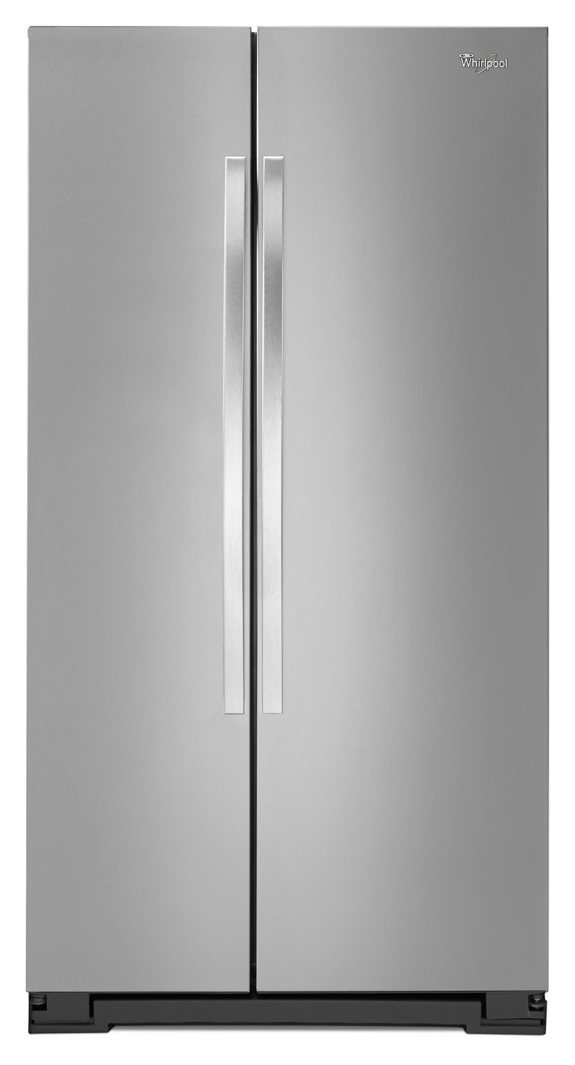 Refrigerators and Freezers - Whirlpool Stainless Steel Side-by-Side Refrigerator (21.6 Cu. Ft.) - WRS322FNAM