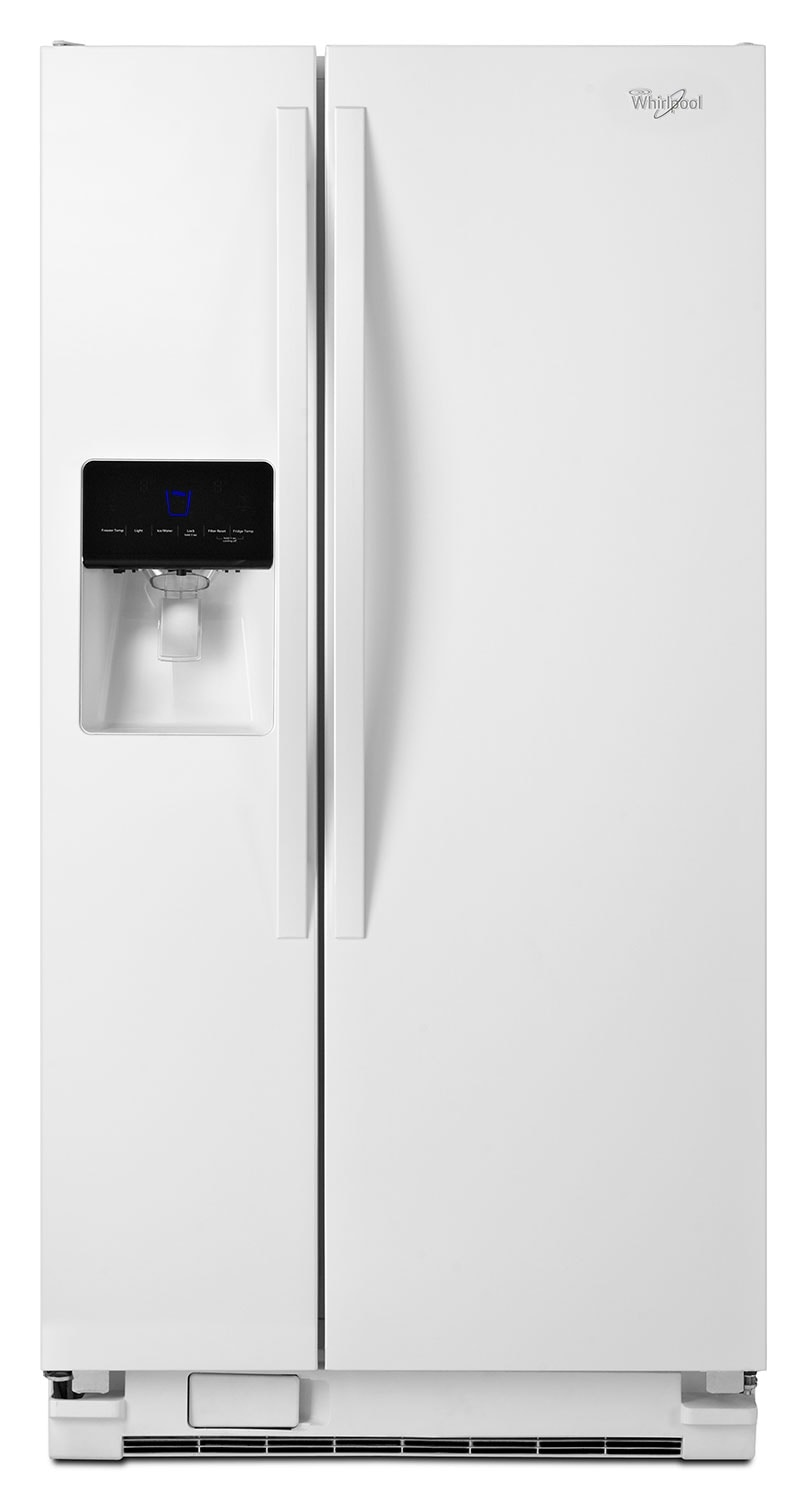 [Whirlpool White Side-by-Side Refrigerator (21.2 Cu. Ft.) WRS342FIAW]