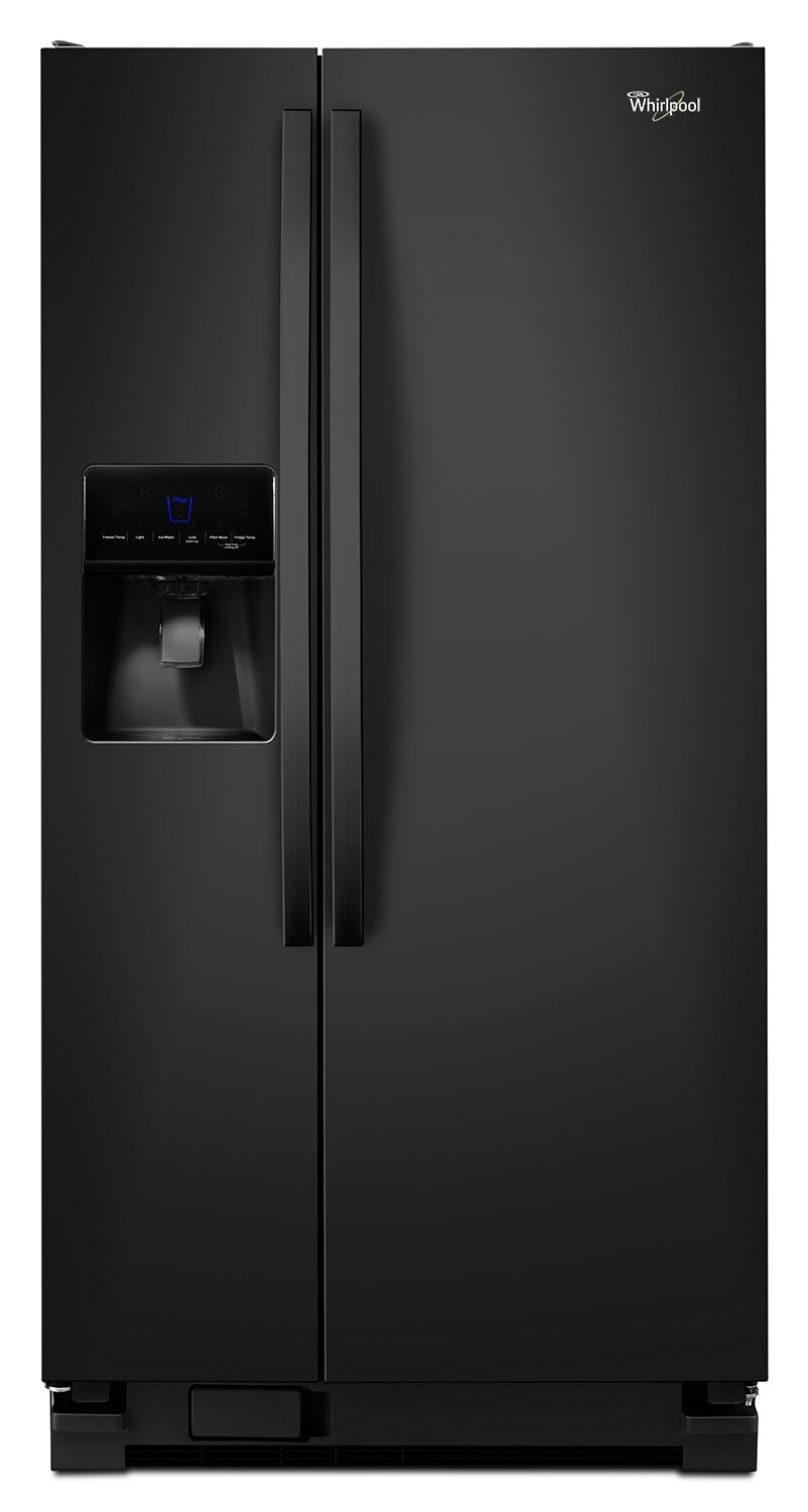 Whirlpool Black Side-by-Side Refrigerator (21.3 Cu. Ft.) - WRS342FIAB