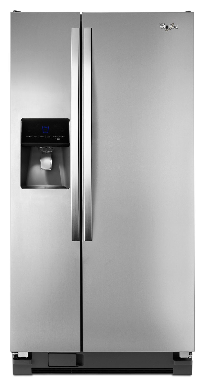 Refrigerators and Freezers - Whirlpool Stainless Steel Side-by-Side Refrigerator (21.3 Cu. Ft.) - WRS342FIAM