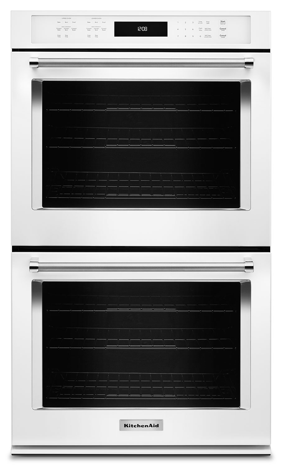 "Cooking Products - KitchenAid 27"" Double Wall Oven with Even-Heat™ True Convection - White"