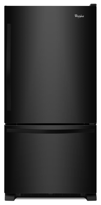 Whirlpool Black Bottom-Freezer Refrigerator (22.1 Cu. Ft.) - WRB322DMBB