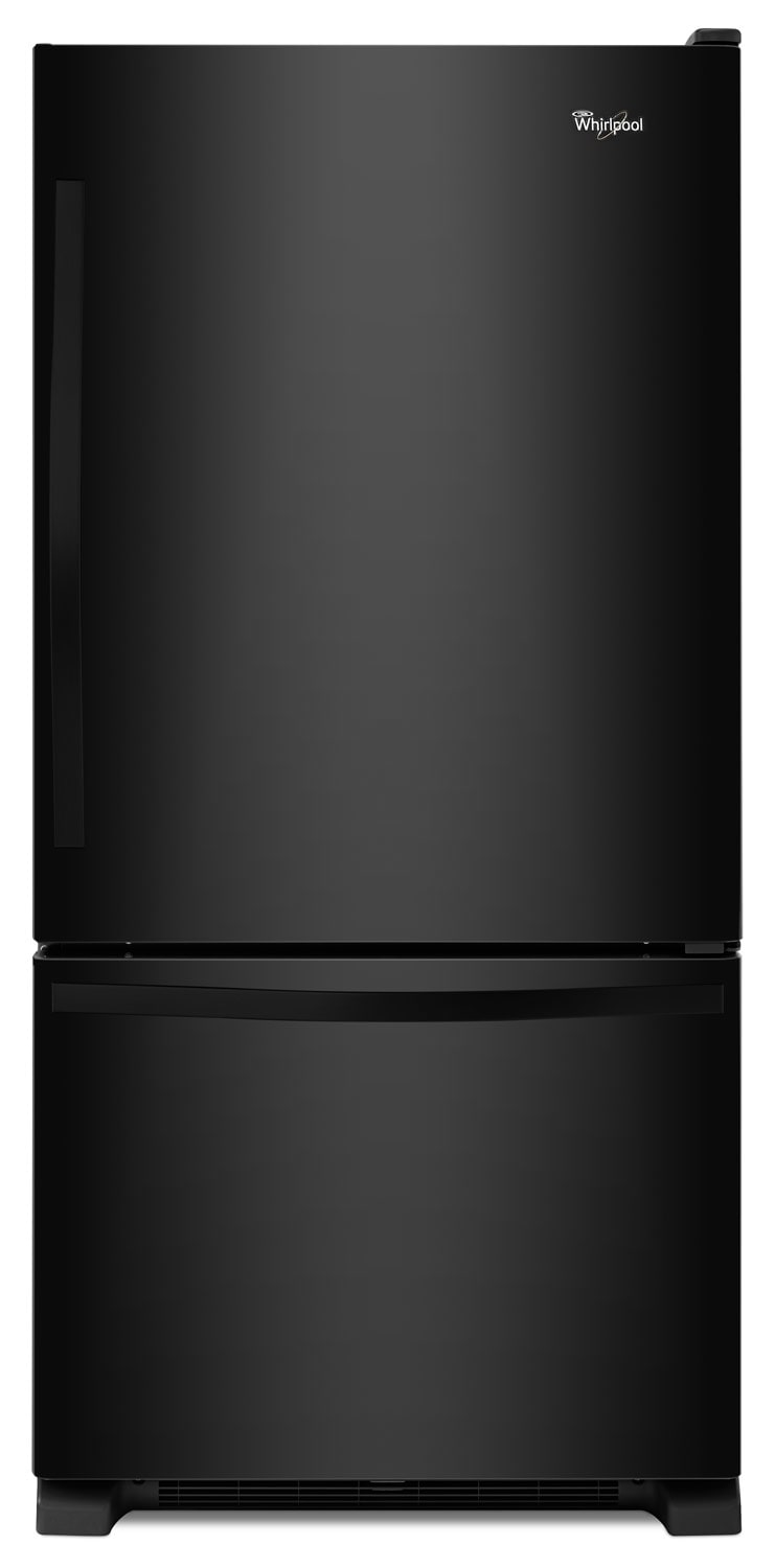 Refrigerators and Freezers - Whirlpool Black Bottom-Freezer Refrigerator (22.1 Cu. Ft.) - WRB322DMBB